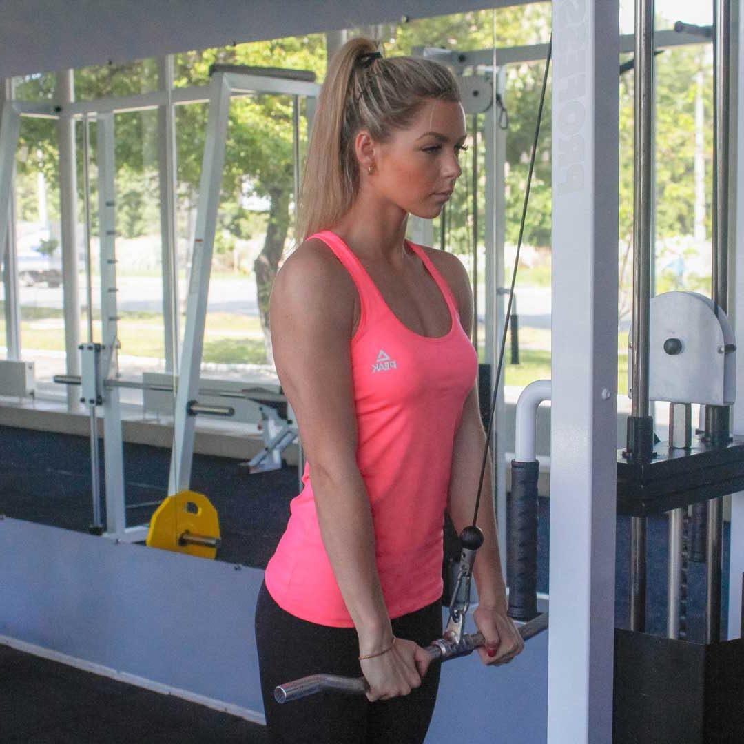 Cable Triceps Push-Down End Fit Drills Exercise