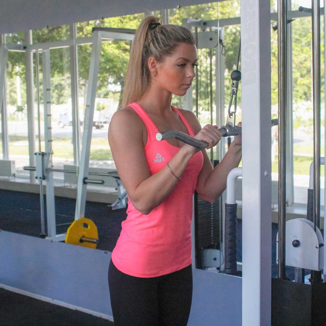 Cable Triceps Push-Down Start Fit Drills Exercise