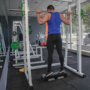 Smith Machine Standing Calf Raise End Fit Drills Exercise