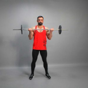 Barbell Standing Biceps Curl End Fit Drills Exercise