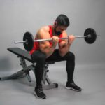Barbell Sitting Biceps Curl