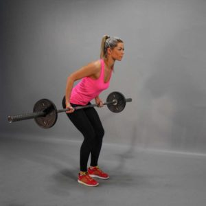 Barbell Reverse-Grip Bent Over Row End Fit Drills Exercise