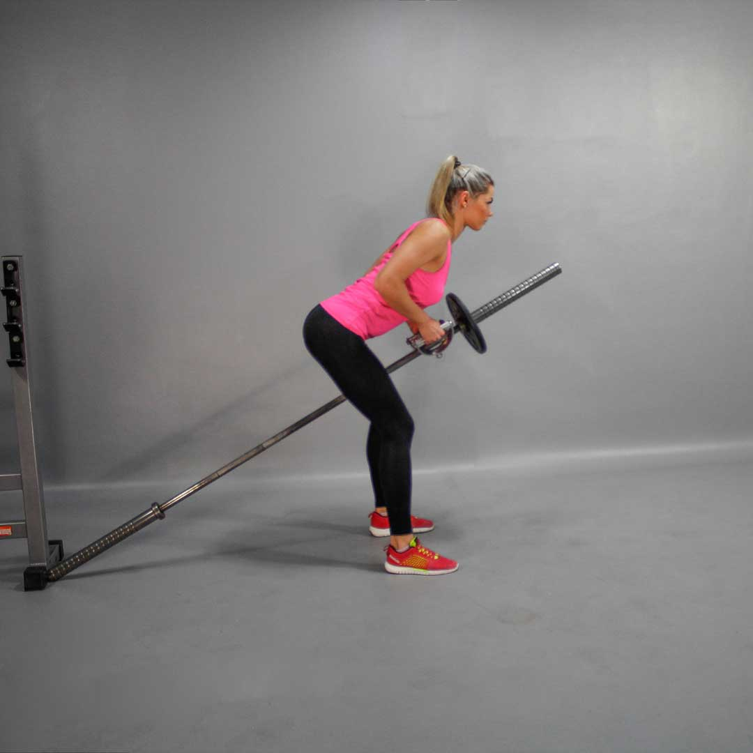 Narrow Grip T-Bar Row End Position Fit Drills Exercise