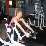 Seated Bent-Over Triceps Extension Elbows in Front