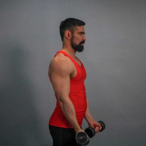 Standing Dumbbell Side Raise Start Fit Drills Exercise