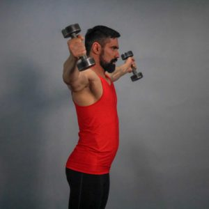 Dumbbell Standing Side Raise End Fit Drills Exercise