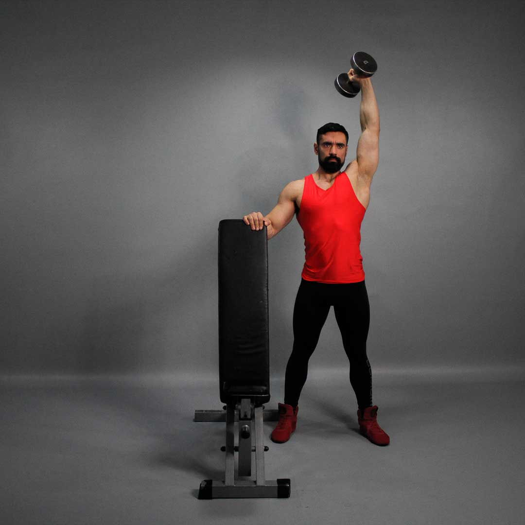 One-Arm Dumbbell Overhead Press - Fit Drills Website