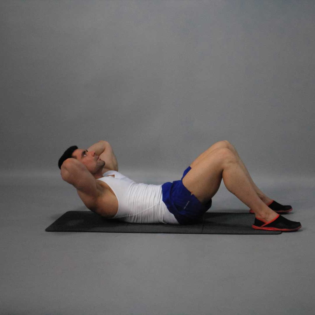 Crunch Feet on Floor End Fit Drills Exercise