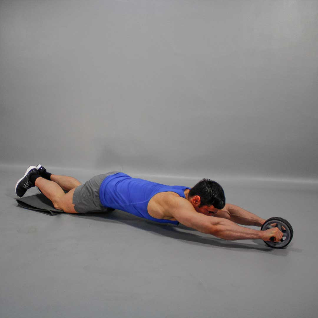 Kneeling Ab Wheel Rollout End Position Fit Drills Exercise