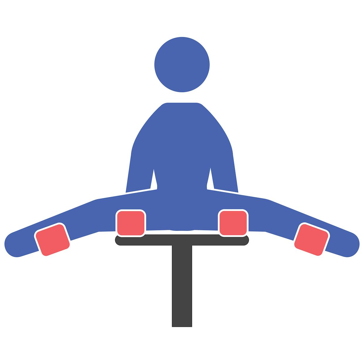 Leg Adduction Machine Start Position Fit Drills Exercise